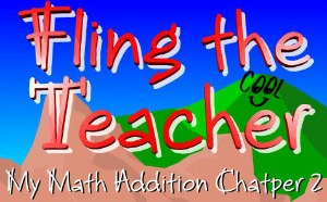 Fling the Teacher – Math Chapters 1 and 2 Vocabulary